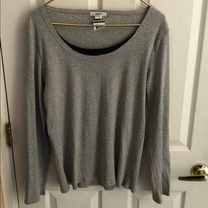 ALFANI Intimates NWOT sleep top pajama top XL gray